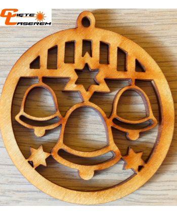 Drewniana bombka dekoracja decoupage zawieszka 10cm ażurowa wzory
