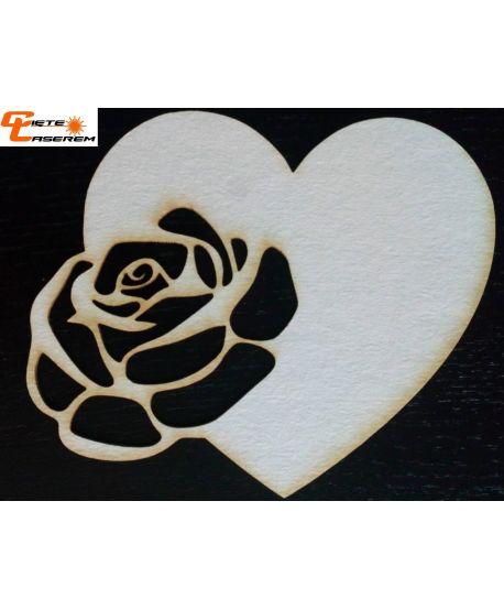 Skrapki serce z różą