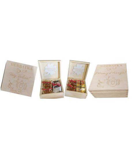 Podziękowanie Rodziców chrzestnych dziadków okazji chrztu świętego szkatułka zestaw upominek personalizowana życzeniami