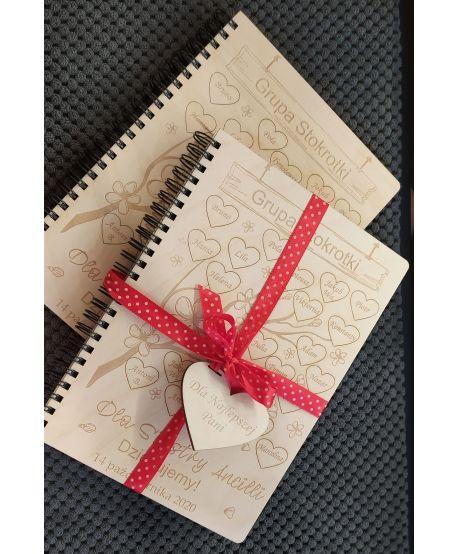 Prezent upominek dzień nauczyciela notes notatnik Podziękowanie koniec roku szkolnego wychowawcy przedszkolanki