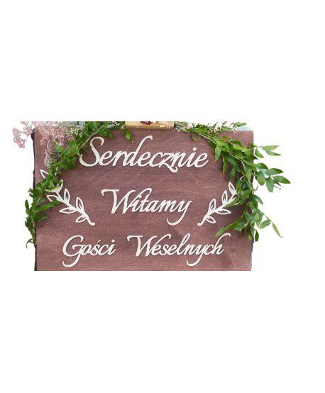 Serdecznie witamy tablica powitalna  Ślub Wesele Powitanie Gości Grawer